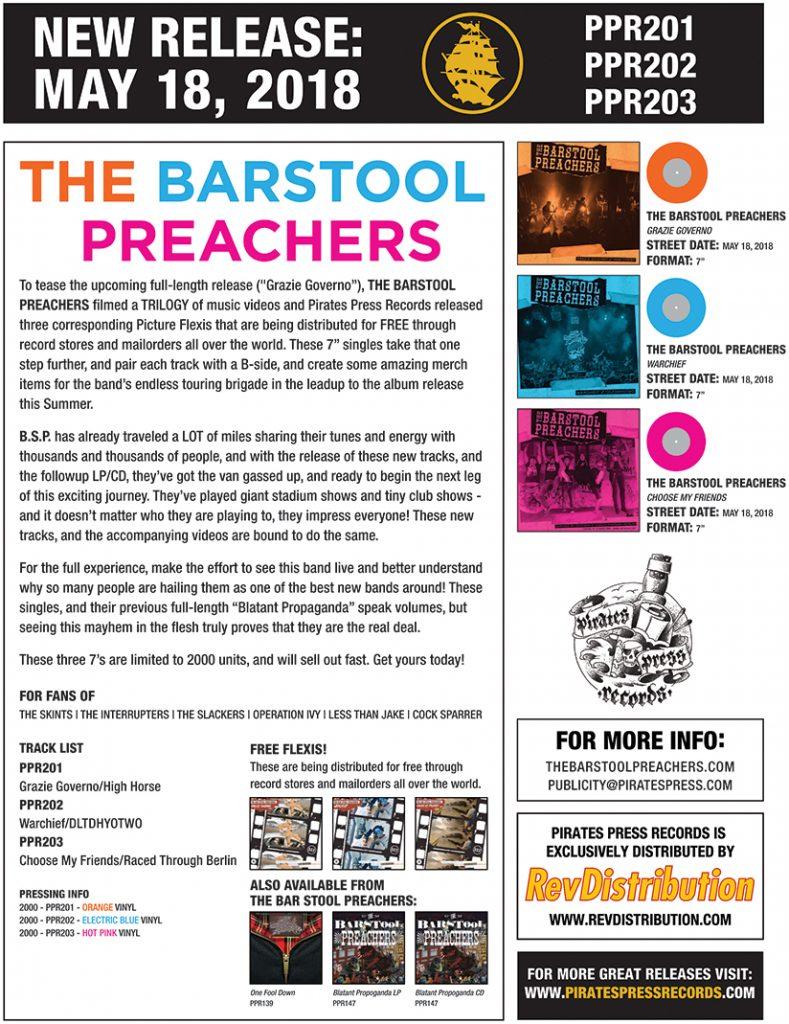 The Bar Stool Preachers – Pirates Press Records