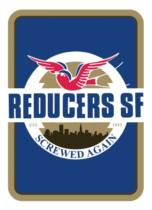 "Reducers SF - ""Screwed Again"" postcard flexi"