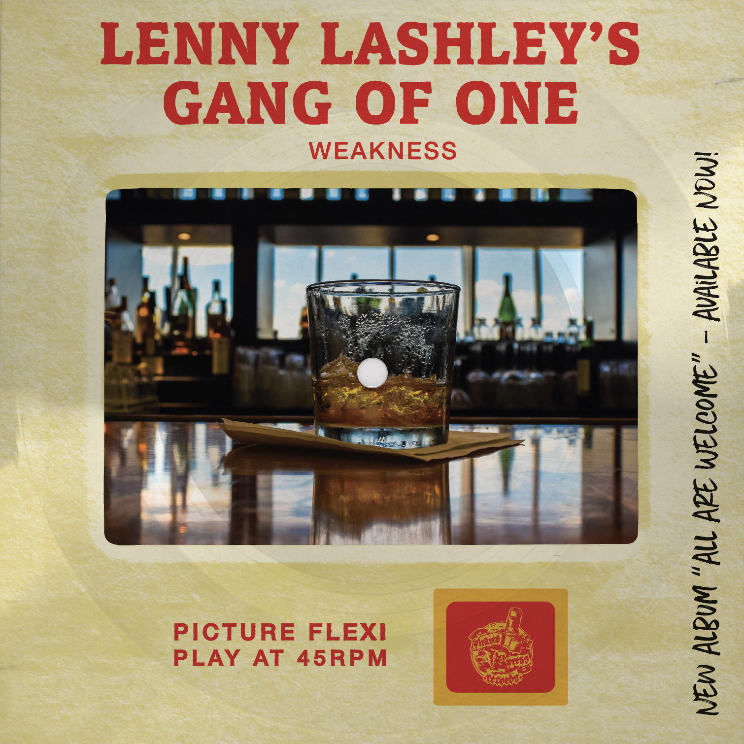 """Lenny Lashley's Gang of One - """"Weakness"""" Picture Slide Flexi"""